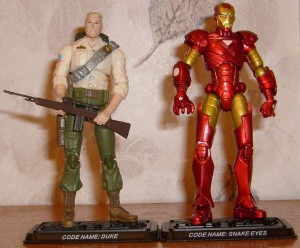 Iron-man and snake eyes? Cobra might as well pack it in.
