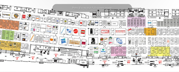 [SDCC] Comic-Con 2011 Exhibit Hall map revealed