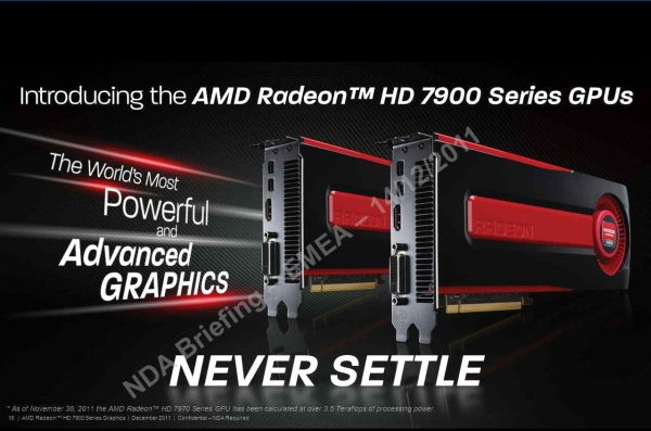 The AMD HD 7970 leaks to the internet with more goodies