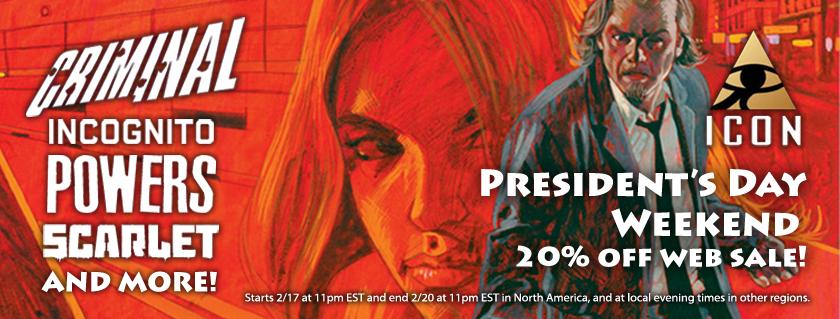 comiXology kicks off a Presidents Day weekend sale