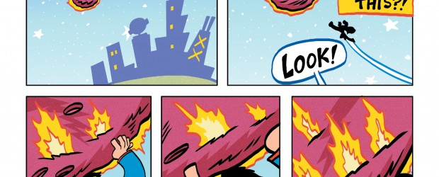 Superman starts a lighter origins story, mixing light humor and colorful pages for enjoyable reading