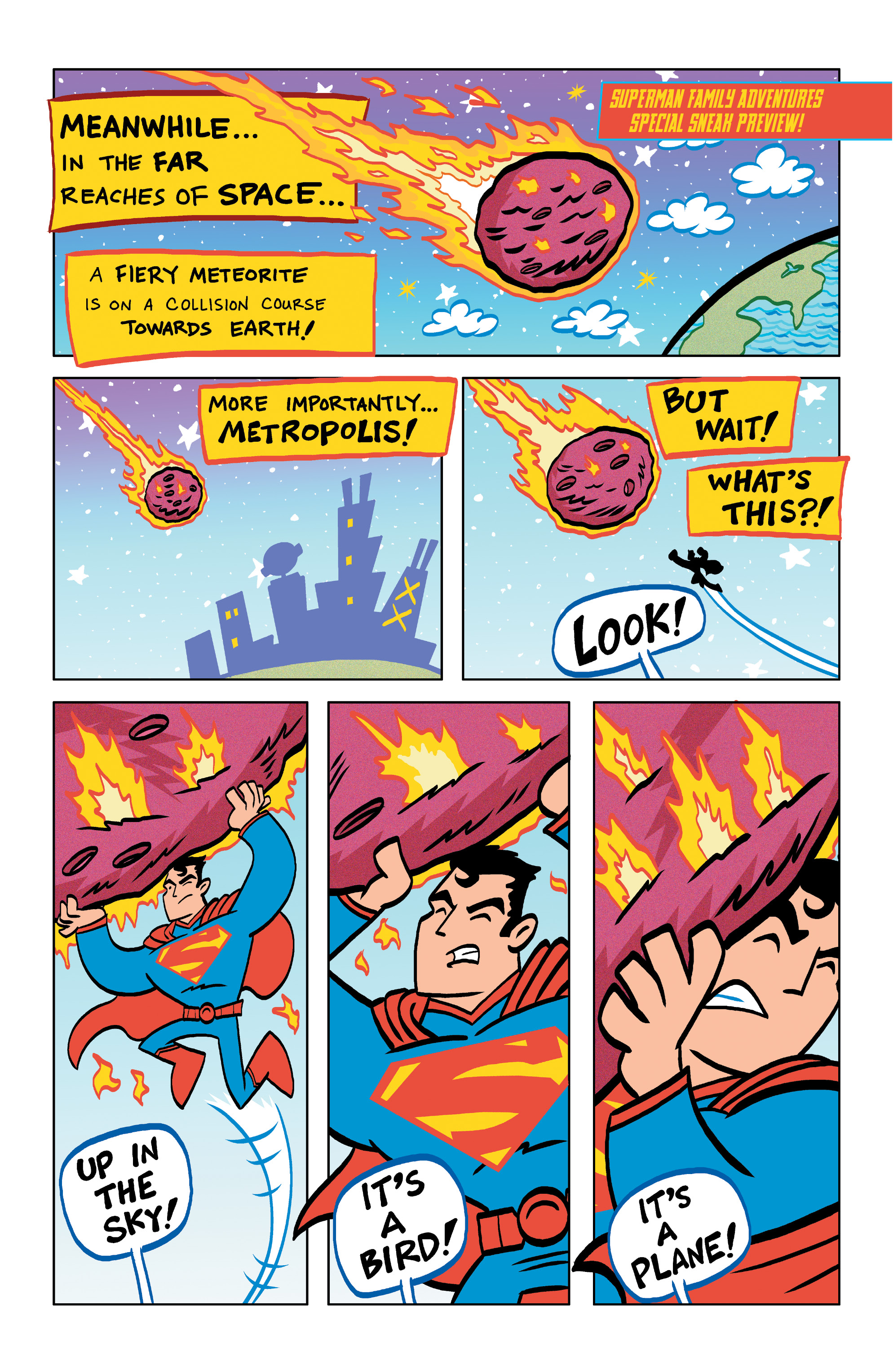 Superman Family Adventures 5 page preview arrives