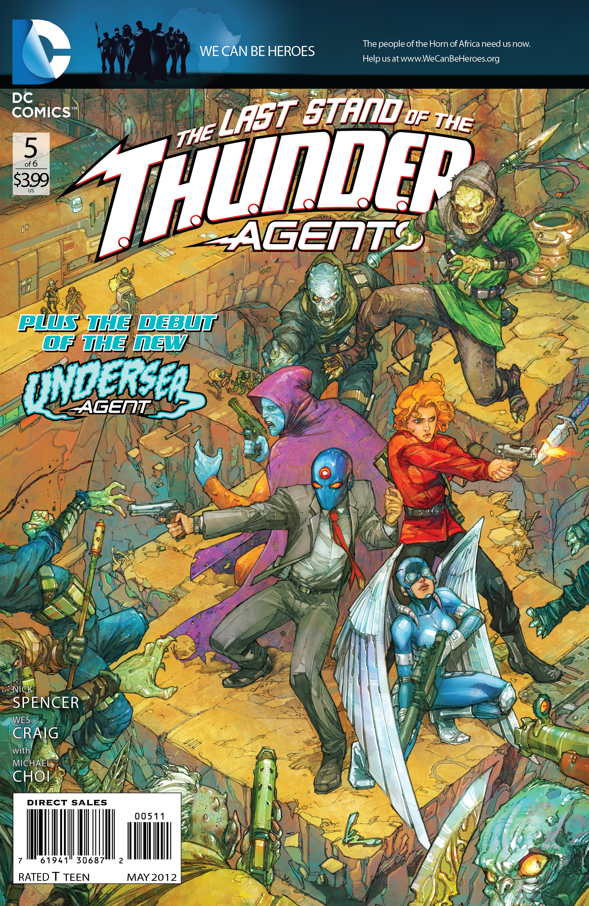 T.H.U.N.D.E.R. Agents #5 Preview goes up