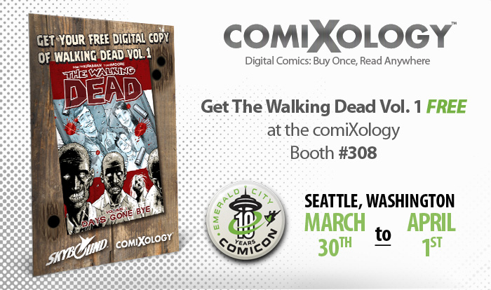 comiXology giving away The Walking Dead Vol. 1 free at ECCC 2012