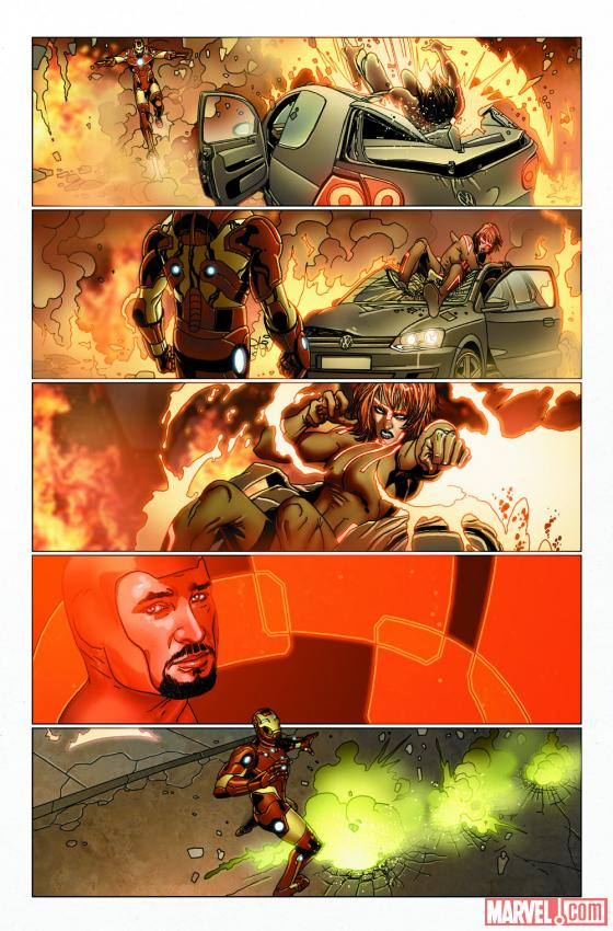 Preview pages for Invincible Iron Man #516 break out