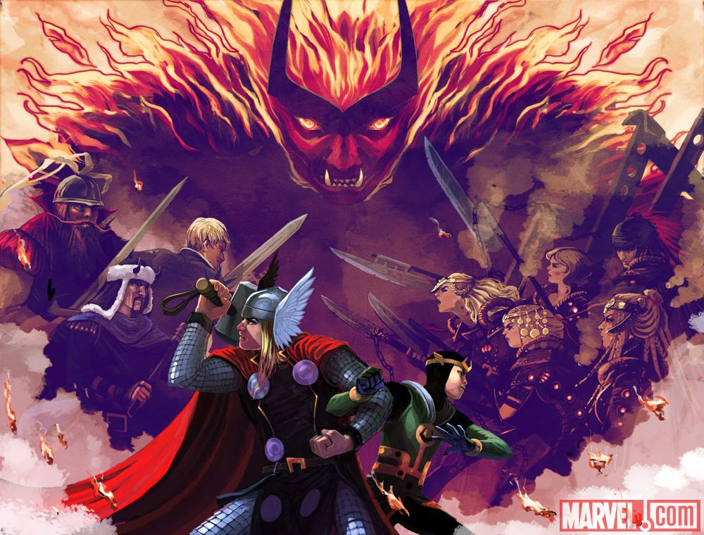 Thor and Loki pair up in Everything Burns crossover