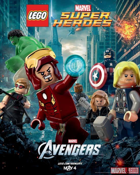 Lego and Marvel prepare Avengers movie posters for launch day