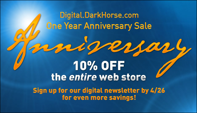 Dark Horse Digital Celebrates First Year With A anniversary Sale