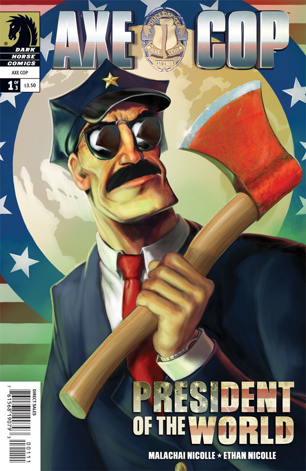 "Review – Axe Cop #1 of 3 ""President Of The World"""