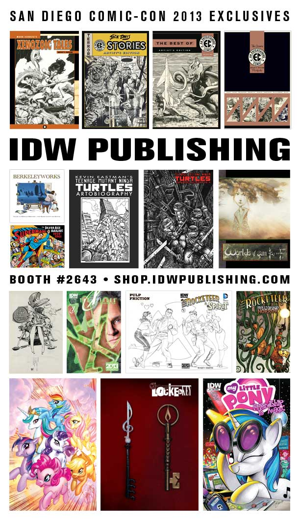 IDW Announces its Eclusives for SDCC 2013
