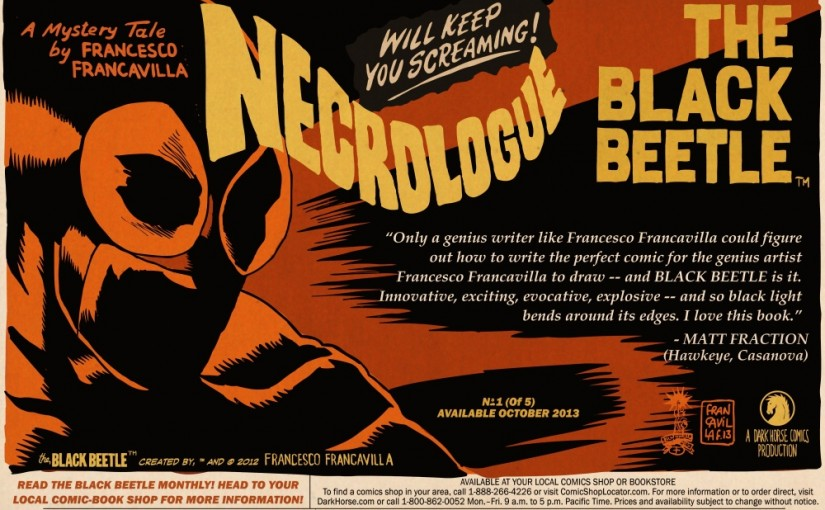 The Black Beetle Necrologue #1 (of 5) Available in October 2013!