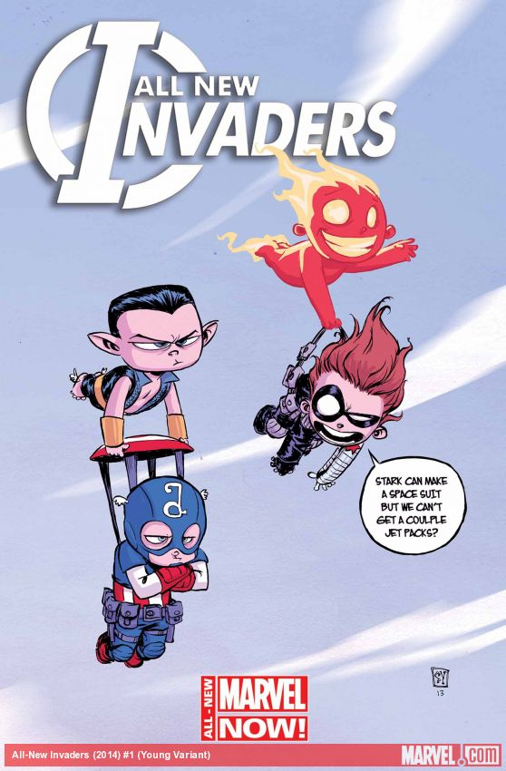 All-New Invaders #1 variant cover by Skottie Young